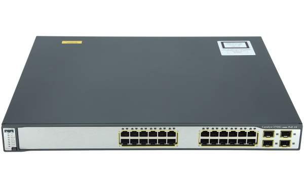 Cisco - WS-C3750G-24PS-S - Catalyst 3750 24 10/100/1000T PoE + 4 SFP Standard Image