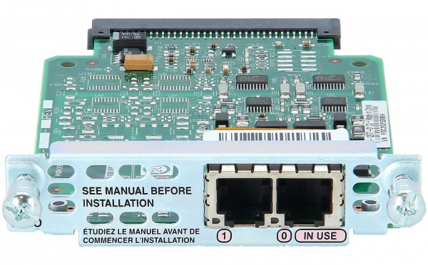 Cisco - VIC2-2FXO= - Two-port Voice Interface Card - FXO (Universal)