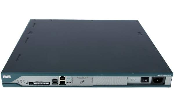 Cisco - CISCO2811 - 2811 w/ AC PWR,2FE,4HWICs,2PVDMs,1NME,2AIMS,IP BASE,64F/256D