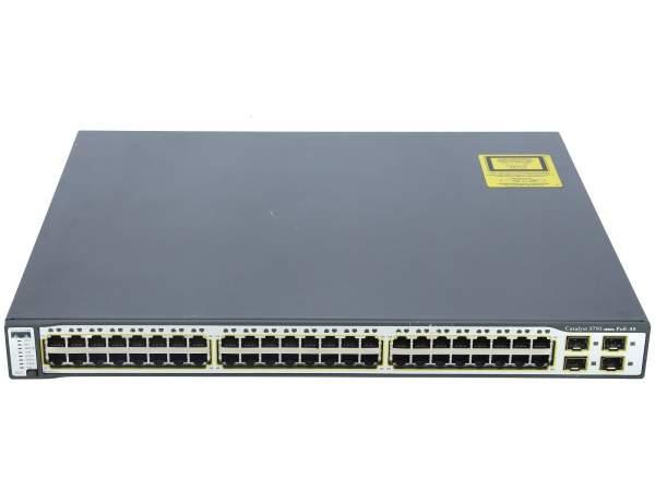 Cisco - WS-C3750-48PS-E - Catalyst 3750 48 10/100 PoE + 4 SFP Enhanced Image