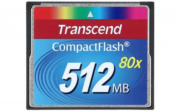TRANSCEND - TS512MCF80 - compact flash Speicherkarte / 80x Speed