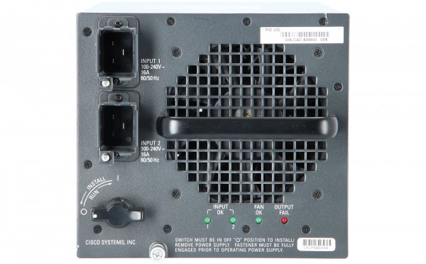 Cisco - WS-CAC-6000W= - Cat6500 6000W AC Power Supply