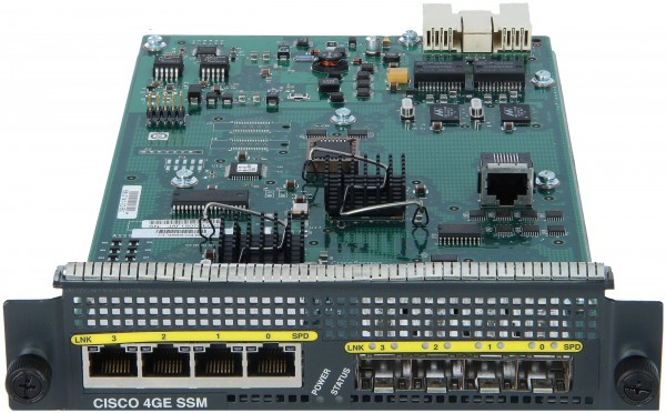 Cisco - SSM-4GE= - ASA 5500 4-Port Gigabit Ethernet SSM (RJ-45+SFP)