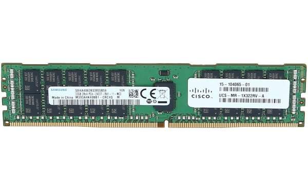 Cisco - UCS-MR-1X322RV-A - 32GB DDR4-2400-MHz RDIMM/PC4-19200/dual rank/x4
