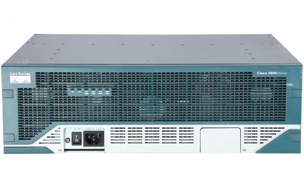 Cisco - CISCO3845 - 3845 w/AC PWR, 2GE, 1SFP, 4NME, 4HWIC, IP Base, 64F/256D