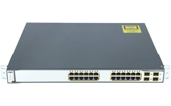 Cisco - WS-C3750G-24TS-S1U - Catalyst 3750 24 10/100/1000 + 4 SFP Std Multilayer