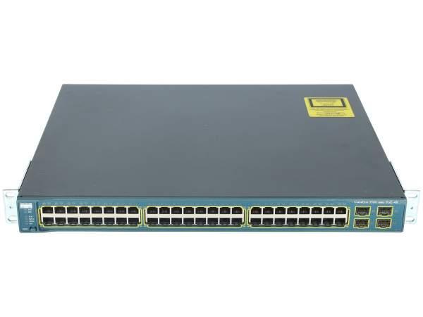 Cisco - WS-C3560-48PS-E - Catalyst 3560 48 10/100 PoE + 4 SFP Enhanced Image