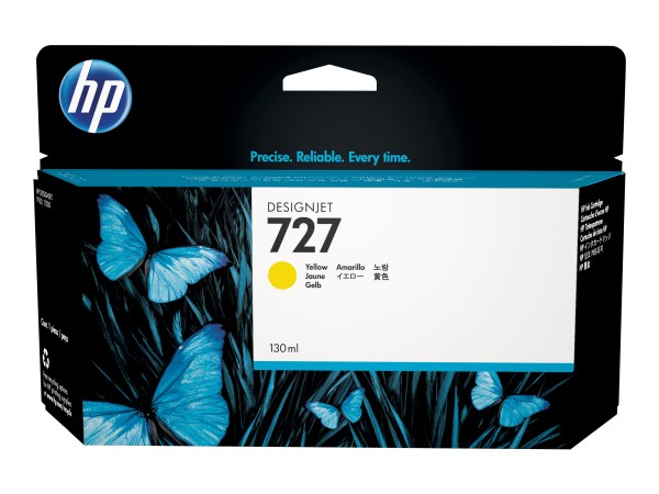 HP - B3P21A - 727 - Tintenpatrone Original - Yellow - 130 ml
