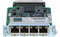 Cisco - HWIC-4ESW - Four port 10/100 Ethernet switch interface card