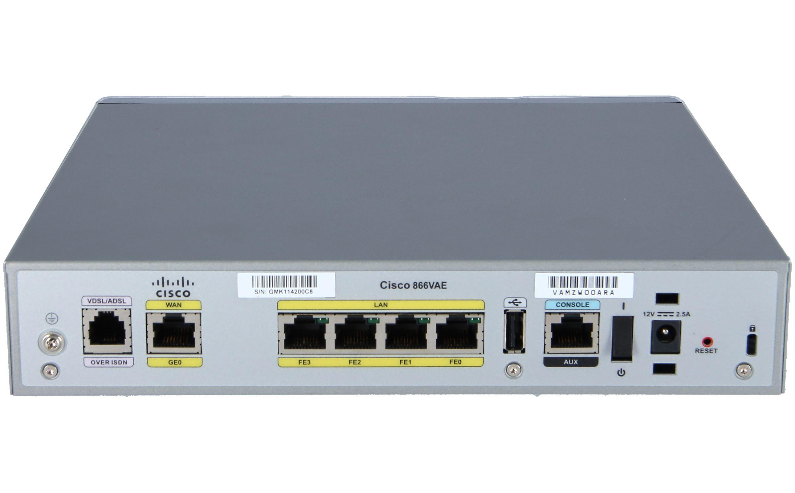 Cisco CISCO866VAE-K9 866Vae Secure Router