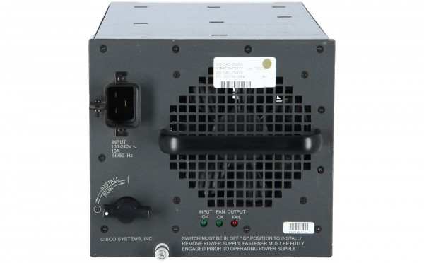 Cisco - WS-CAC-2500W= - EOS:01/15/06(PB 2970) Catalyst 6500 2500W AC Power Supply