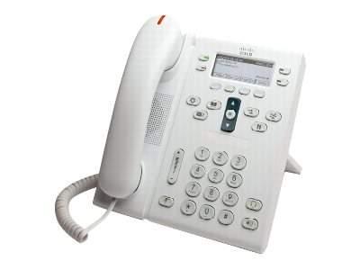 Cisco - CP-6941-WL-K9= - Cisco UC Phone 6941, Arctic White, Slimline Handset
