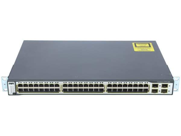 Cisco - WS-C3750-48TS-S - Catalyst 3750 48 10/100 + 4 SFP Standard Multilayer Image