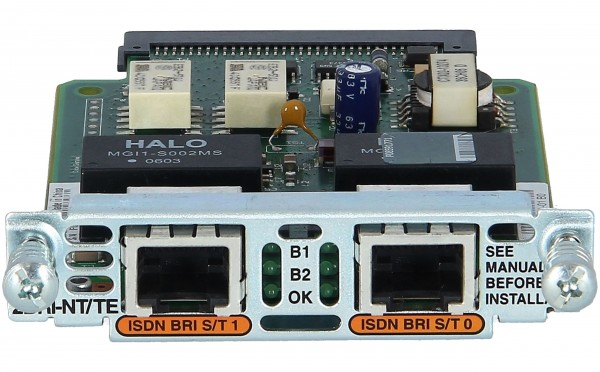 Cisco - VIC2-2BRI-NT/TE= - Two-port Voice Interface Card - BRI (NT and TE)