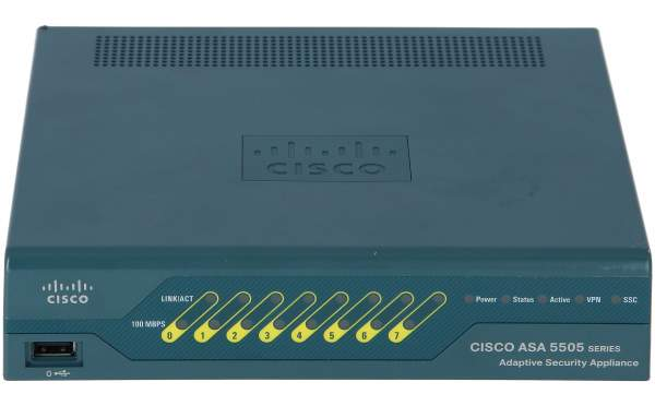 Cisco - ASA5505-SEC-BUN-K9 - ASA 5505 Sec Plus Appliance with SW, UL Users, HA, 3DES/AES