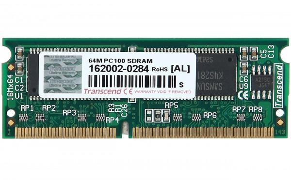 TRANSCEND - TS8MSS64V8C2 - Arbeitsspeicher fuer Notebooks / PC100 SDRAM / SO DIMM