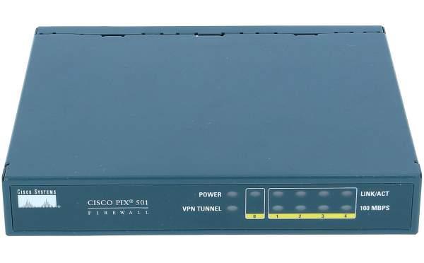 Cisco - PIX-501-50-BUN-K9 - PIX 501-50 3DES/AES Bundle (Chassis, SW, 50 Users, 3DES/AES)