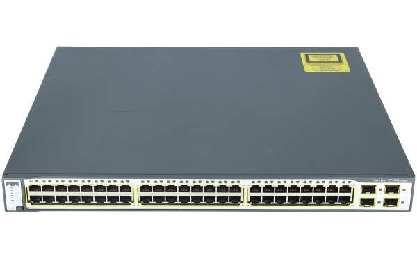 Cisco - WS-C3750G-48TS-S - Catalyst 3750 48 10/100/1000T + 4 SFP Standard Multilayer