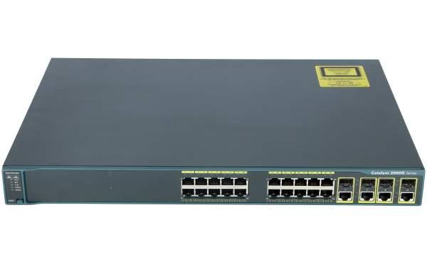 Cisco - WS-C2960G-24TC-L - Catalyst 2960 24 10/100/1000, 4 T/SFP LAN Base Image