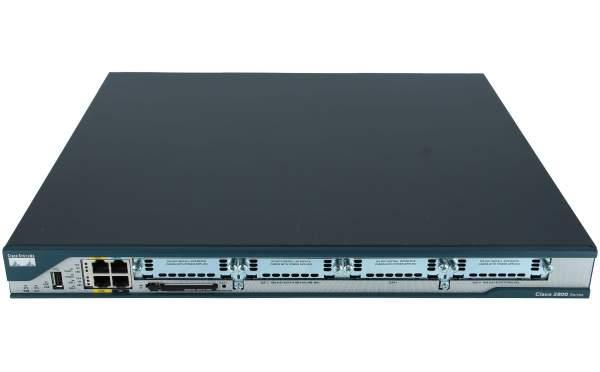 Cisco - CISCO2801 - 2801 w/AC PWR,2FE,4slots(2HWIC),2PVDM,2AIM,IP BASE,64F/128D