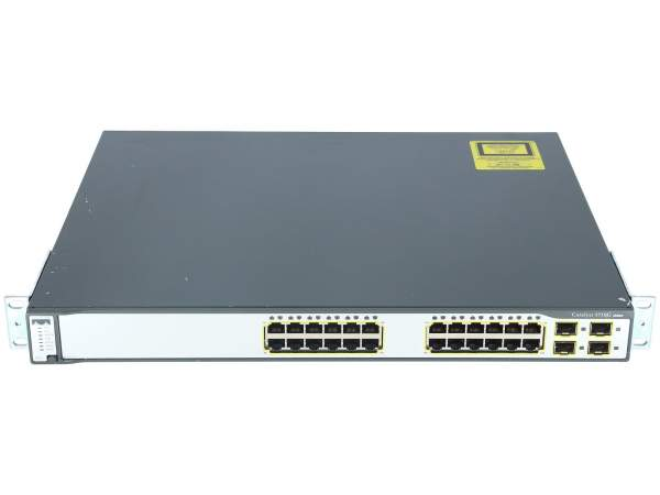 Cisco - WS-C3750G-24TS-E1U - Catalyst 3750 24 10/100/1000 + 4 SFP Enh Multilayer