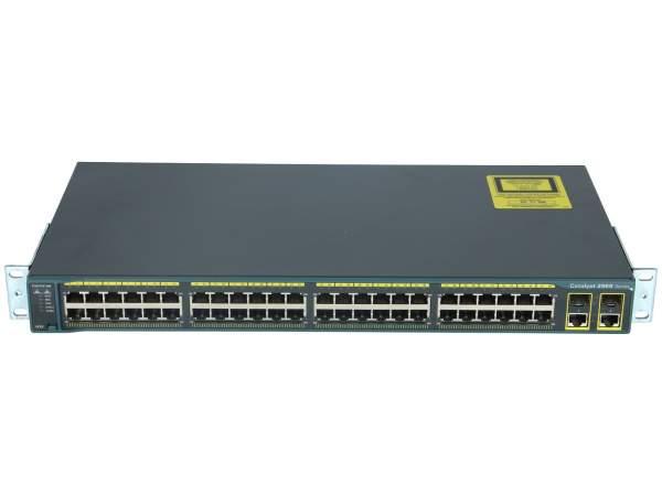 Cisco - WS-C2960-48TC-L - Catalyst 2960 48 10/100 + 2 T/SFP LAN Base Image