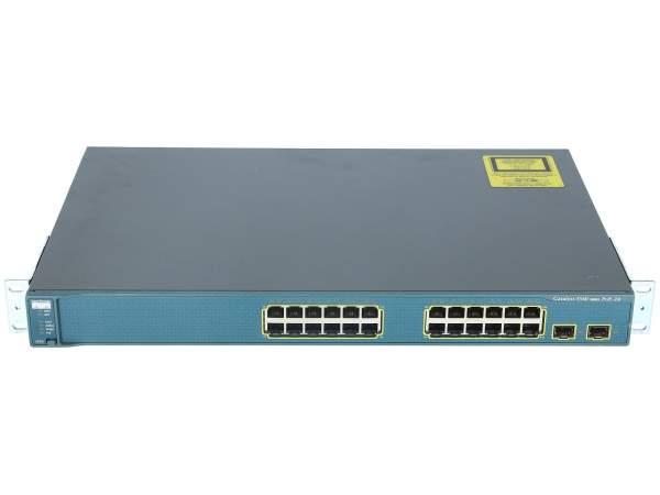 Cisco - WS-C3560-24PS-E - Catalyst 3560 24 10/100 PoE + 2 SFP Enhanced Image