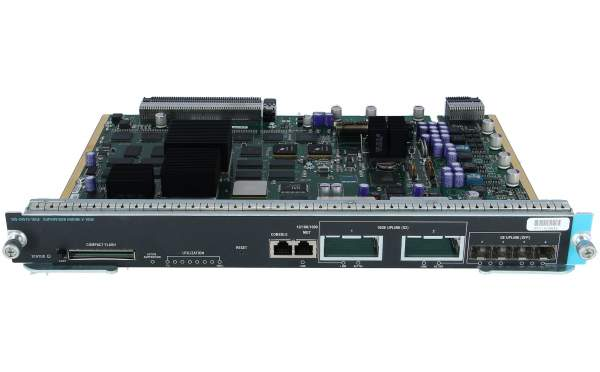 Cisco - WS-X4516-10GE - Catalyst 4500 Supervisor V-10GE, 2x10GE (X2) and 4x1GE (SFP)