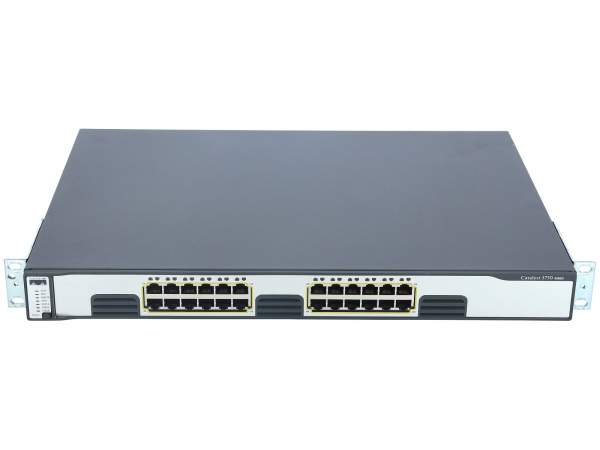 Cisco - WS-C3750G-24TS-E - Catalyst 3750 24 10/100/1000 + 4 SFP Enhcd Multilayer