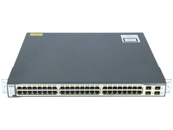 Cisco - WS-C3750G-48TS-E - Catalyst 3750 48 10/100/1000T + 4 SFP Enhanced Multilayer