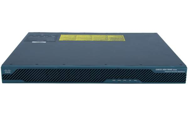 Cisco - ASA5540-BUN-K9 - ASA 5540 Appliance with SW, HA, 4GE+1FE, 3DES/AES