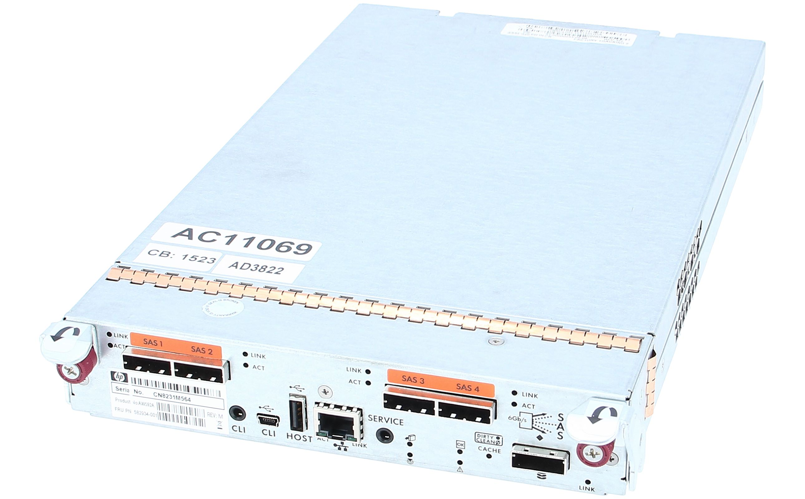 AW592A HP P2000 G3 SAS MSA CONTROLLER 582934-001
