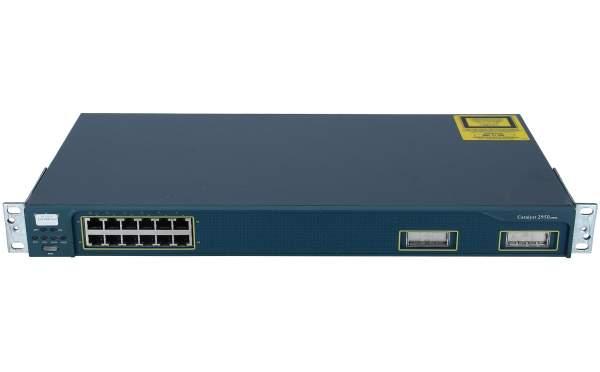 Cisco - WS-C2950G-12-EI - Catalyst 2950, 12 10/100 with 2 GBIC slots, Enhanced Image